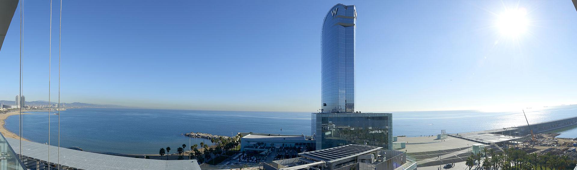Vistas desde la terraza edificio Ocean Barcelona