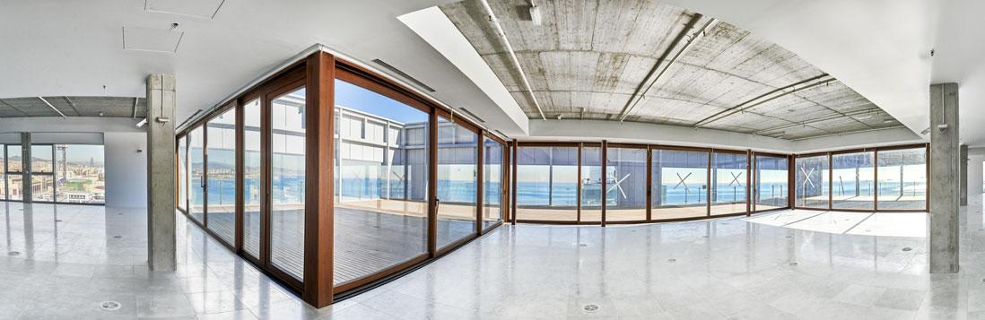 Interior oficinas último piso