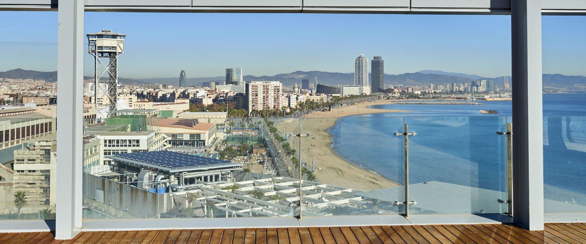 Vistas de Barcelona desde las oficinas